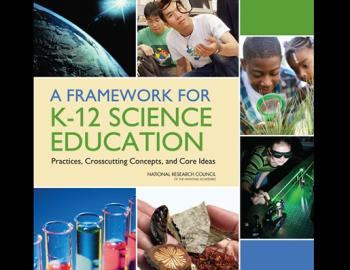 Book cover: A Framework for K-12 Science Education