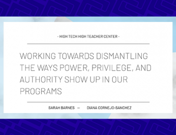 Presentation slide: Working Towards the Ways Power, Privilege and Authority Show Up in Our Programs